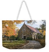 West Parish Chapel In Fall, Andover, Ma Weekender Tote Bag