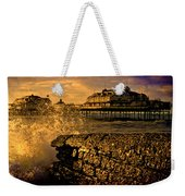 West Pier Splash Weekender Tote Bag