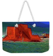 West View Of Church In Ranchos Weekender Tote Bag