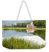West Virginia Barn Reflected In Pond   Weekender Tote Bag