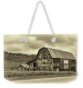 West Virginia Barn Sepia Weekender Tote Bag