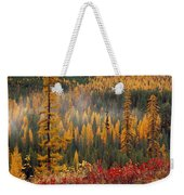 Western Larch Forest Autumn Weekender Tote Bag