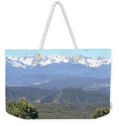Western Slope Mountains Weekender Tote Bag