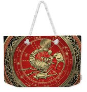 Western Zodiac - Golden Scorpio - The Scorpion On Black Velvet Weekender Tote Bag