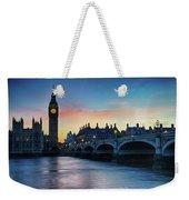 Westminster At Dusk Weekender Tote Bag
