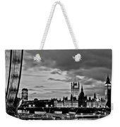 Westminster Black And White Weekender Tote Bag