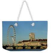 Westminster Bridge And London Eye Weekender Tote Bag