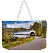 Westport Covered Bridge Weekender Tote Bag by Jack R Perry
