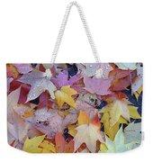 Wet Fall Leaves Weekender Tote Bag