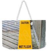 Wet Floor Warning Weekender Tote Bag