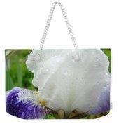 Wet Flower Raindrops Art Iris Flower Spring Baslee Troutman Weekender Tote Bag