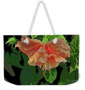 Wet Hibiscus Weekender Tote Bag
