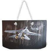 Wet Night Landing Weekender Tote Bag