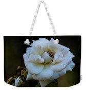 Wet Rose Weekender Tote Bag