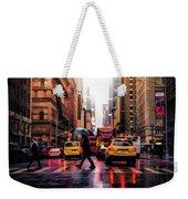 Wet Streets Of New York City Weekender Tote Bag