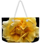 Wet Yellow Rose II Weekender Tote Bag