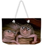 We've Got A Secret - Smiling Leopard Geckos Weekender Tote Bag