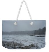 Weymouth Back River In A Snow Storm Weekender Tote Bag