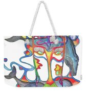 Whale Face Weekender Tote Bag