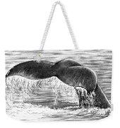 Whale Tail Weekender Tote Bag