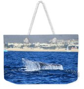 Whale Tail In Cabo Weekender Tote Bag
