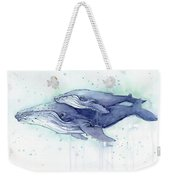 Whales Humpback Watercolor Mom And Baby Weekender Tote Bag