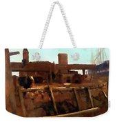 Wharf Scene Weekender Tote Bag