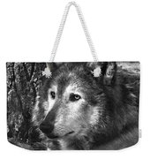 What Is A Wolf Thinking Weekender Tote Bag