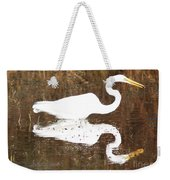 What The Egret Caught Weekender Tote Bag