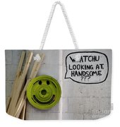 Whatchu Looking At Handsome Weekender Tote Bag