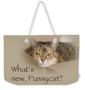 What's New Pussycat - Lily The Cat Weekender Tote Bag