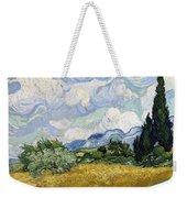 Wheat Field With Cypresses Weekender Tote Bag