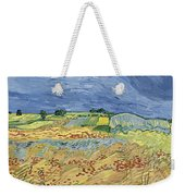 Wheat Field With Stormy Sky Weekender Tote Bag