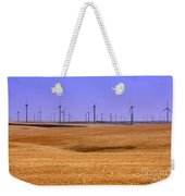 Wheat Fields And Wind Turbines Weekender Tote Bag