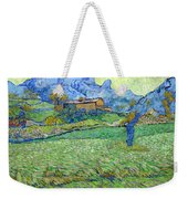 Wheat Fields In A Mountainous Landscape, By Vincent Van Gogh, 18 Weekender Tote Bag