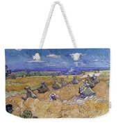 Wheat Fields With Reaper, Auvers Weekender Tote Bag