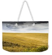 Wheat Fields With Storm Weekender Tote Bag