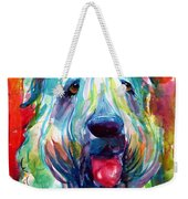 Wheaten Terrier Dog Portrait Weekender Tote Bag