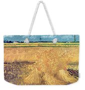Wheatfield With Sheaves Weekender Tote Bag