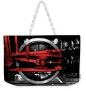 Wheel Of Red Steel Weekender Tote Bag