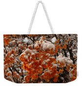 When Fall Meets Winter Weekender Tote Bag