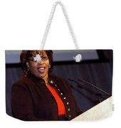 When She Was A Speaker Weekender Tote Bag