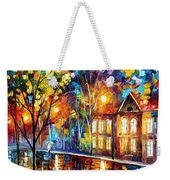 When The City Sleeps 2 - Palette Knife Oil Painting On Canvas By Leonid Afremov Weekender Tote Bag