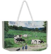 When The Cows Come Home, It's Milking Time Weekender Tote Bag
