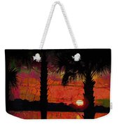 When The Day Ends Time Is Exhausted Weekender Tote Bag