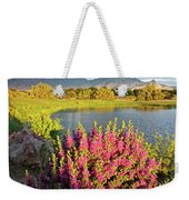 When The Rains Come In The Desert So Do The Blooms Weekender Tote Bag