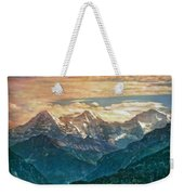 When The Sun Says Good Bye To The Mountains  Weekender Tote Bag