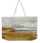 When The Tide Is Low  Maer Rocks, Exmouth, Weekender Tote Bag