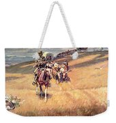 When Wagon Trails Were Dim Weekender Tote Bag