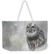 When Winter Calls Owl Art Weekender Tote Bag